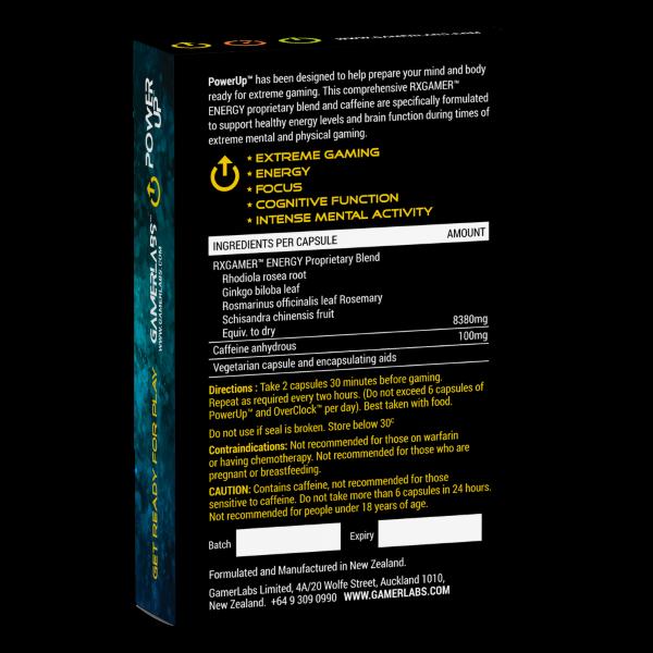 PowerUp™ Packaging reverse